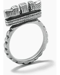 "Vanessa Mooney - Fight The Power ""c"" Ring - Silver - Lyst"