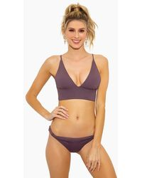 L*Space Olivia Bralette Bikini Top - Brown