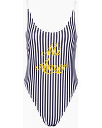 Private Party Mi Amor Tank High Cut One Piece Swimsuit - Blue