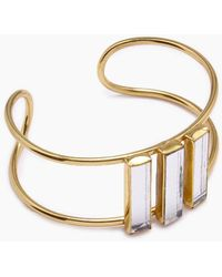 Lena Bernard Damianis Mirrored Brass Cuff Bracelet - Metallic