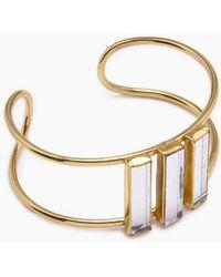 Lena Bernard Damianis Mirrored Gold Brass Cuff Bracelet - Metallic