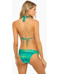 ViX Bia Tube Sliding Straps Full Bikini Bottom - Lagoon Green Tie Dye Print