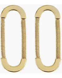 Luv Aj Snake Chain Loop Studs - Gold - Metallic
