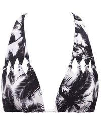 Mikoh Swimwear Hilo Cut Out Knot Triangle Bikini Top - Multicolor