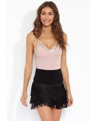 Norma Kamali All Over Fringe Shorts - Black