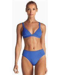Vitamin A - Neutra Triangle Top - Ecorib Beach Blue - Lyst