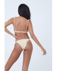 Made By Dawn Traveller Banded Ribbed Low Rise Bikini Bottom - White