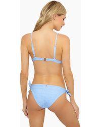 Lolli Penny Low-rise Full Coverage Cheeky Bikini Bottom - Blue