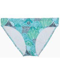 Helen Jon Fold Over Hipster Bikini Bottom - Dominica Print - Blue