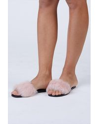 Senso Bronte Fluffy Slide - Pink