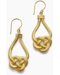 Lena Bernard - Sabha Knotted Gold Fishtail Chain Dangle Earrings - Lyst