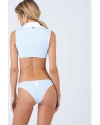 Beach Bunny - Lola Cheeky Bikini Bottom - Riviera Blue Stripe Print - Lyst