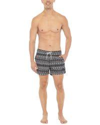 Bikini.com - Aztec Print Mid Length Swim Trunks (men's) - Lyst