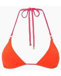 F E L L A. Carlo Halter Triangle Bikini Top - Orange
