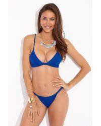 F E L L A. Lennox Triangle Bralette Bikini Top - Royal Blue