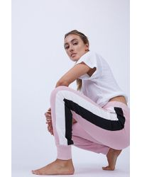 Wildfox Varsity Color Block Stripe Jack Jogger - Pink