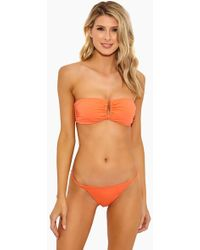 Onia Genevieve Strapless Bandeau Bikini Top - Sunrise - Orange