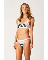 Suboo Knitted Scoop Bralette Bikini Top - Blue