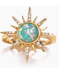 Elizabeth Stone - Gemstone Starbust Ring - Aqua Opal - Lyst