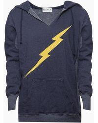 Wildfox Electric Jack Sweatshirt - Oxford Blue