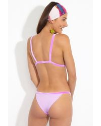 dbrie The Gia Low Rise Velvet Bikini Bottom - Lilac - Purple