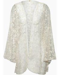 Pilyq Coachella Lace Kimono - White