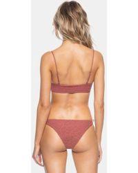 Tavik - Ricci Lace Up Sides Bikini Bottom - Berry Cheetah - Lyst