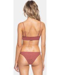 Tavik Ricci Tie Side Bikini Bottom - Berry Pink Cheetah Print