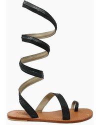 Aspiga - Cannes Sandals - Black - Lyst