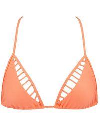 36fdbc8f079 Luli Fama - Verano De Rumba Caged Triangle Bikini Top - Miami Peach - Lyst
