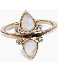 Elizabeth Stone - Gemstone Teardrop Ring - Moonstone - Lyst