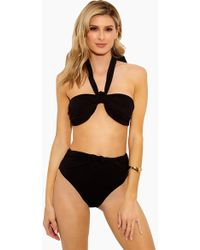 10 Crosby Derek Lam Halter Bandeau Bikini Top - Black