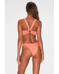 L*Space Dana Metal Ring Bikini Bottom - Pink