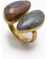 Lena Bernard - Naenia Labradorite Stone Gold Ring - Lyst