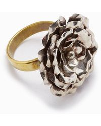 Lena Bernard Medium Rose Statement Ring - Metallic