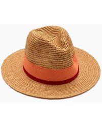 Hat Attack Raffia Crochet Rancher Hat - Brown