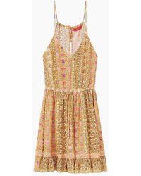 Tigerlily Anna Ruffle Mini Dress - Green