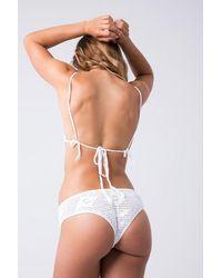 Indah Chia Crochet Hipster Bikini Bottom - White