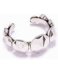Lena Bernard Diandra Studded Silver Cuff Bracelet - Metallic