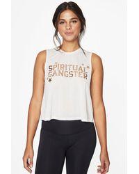 Spiritual Gangster Active Crop Top - White