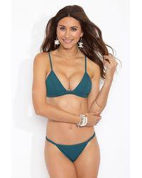 F E L L A. Lennox Triangle Bralette Bikini Top - Green