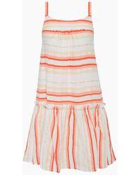lemlem Fiesta Ruffle Beach Mini Dress - Orange