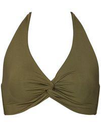 Jets by Jessika Allen D/dd Twist Halter Bikini Top - Green