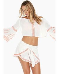L*Space Crawford Off The Shoulder Top - White