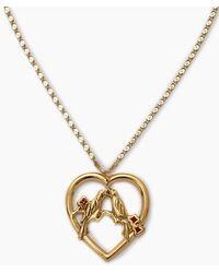 Vanessa Mooney The Love Bird Necklace - Metallic