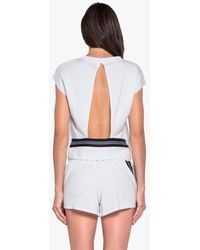 Koral Watch Open Back Top - White