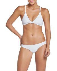 Pilyq Sparrow Knotted Triangle Bikini Top - White