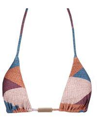 ViX Ananda Triangle Bikini Top - Multicolour