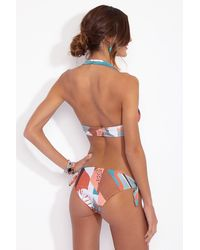 Adriana Degreas Tropiques Tie Side Hipster Bikini Bottom - Blue