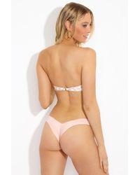 Montce Swim - Uno Brazilian Cut Scrunch Bikini Bottom - Pastel Peach - Lyst